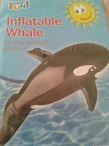 Inflatable WHALE - Great Fun for Beach/Pool/Holiday - approx 90cm - NEW