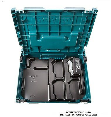 MAKITA POWER CASE Lithium-ion Battery & Charger Case with Inlay