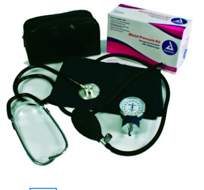 New Dynarex Blood Pressure Kit Sphyg & Dual Head Stethoscope Latex Free #7099