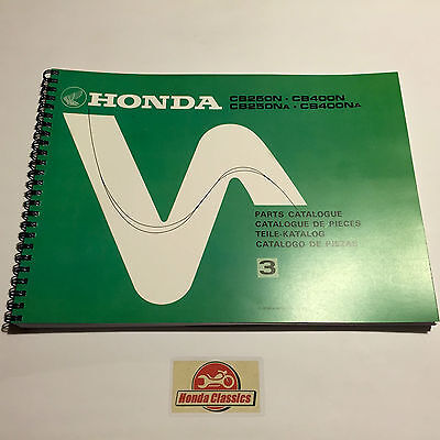 Honda Parts List Book for CB250N CB400N Super Dream Twin, Reproduction. HPL003