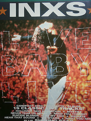 INXS # LIVE BABY LIVE ALBUM RELEASE # COLOUR ADVERT 12.5 x 10 inch