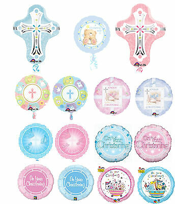 CHRISTENING COMMUNION Religious Baptism Blessing HELIUM BALLOONS Party Boy Girl
