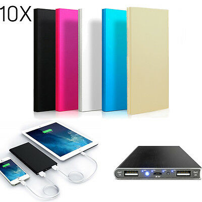 10x LOT Universal Portable Battery Charger Power Bank 20,000mAh For Mobile Phone