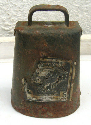 Antique Cow Bell Sargent & Co. New Haven CT. Dairy Farm Decor Kentucky #5(FE)