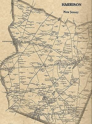Mullica Hill Harrisonville Richwood NJ 1876 Maps with Homeowners Names Shown