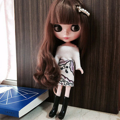 """12"""" Neo Nude  Brown Hair Blythe doll From Factory  JSW10"""