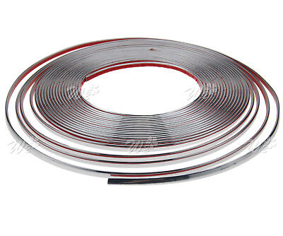 6mm x 15M Chrome Styling Moulding Trim Strip For Cars Vans Vehicles 49FT