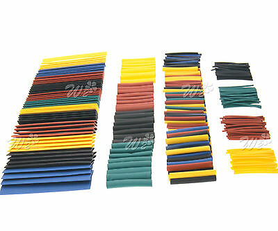 Assorted 328Pcs 8 Sizes Car Electrical Wire Cable Heat Shrink Tube Tubing Wrap