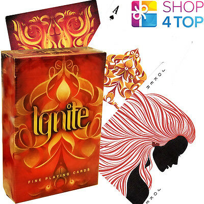 Ellusionist Ignite Fire Red Bicycle Playing Cards Deck Magic Tricks Uspcc Sealed
