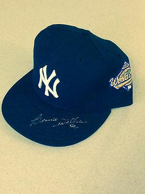 Bernie Williams autographed 96 WS pro-fitted Hat New ERA