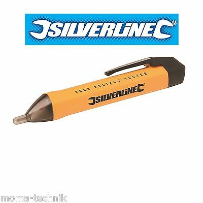 New Silverline 150mm NON CONTACT AC VOLTAGE DETECTOR Electrician Pen Tester Wire