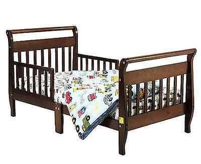 Toddler Bed Espresso Sleigh Dream On Me Kids Bedroom Furniture Safety Rail Wood