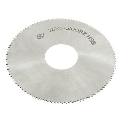 75mm Outer Diameter 0.5mm Thickness 22 Hole Dia. HSS Slitting Saw 108 Tooth
