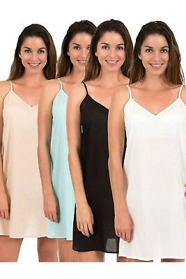 Cotton dress Slip by Spirituelle, Celine -  New, Four Colours  Size XS - 3XL