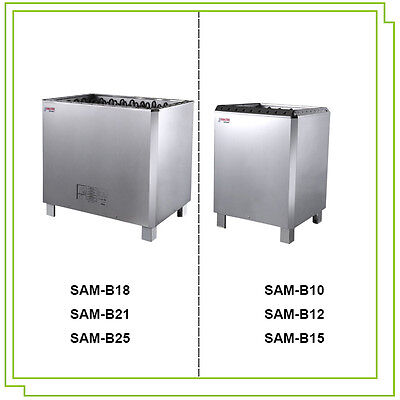 COASTS Amazon Deluxe Sauna Heater Stove STAINLESS STEEL + Outer Control 10-25KW