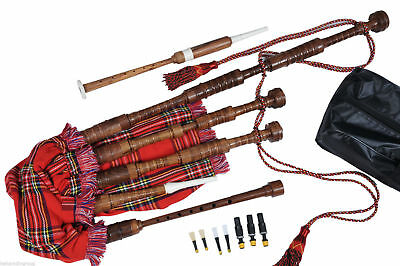 Great Highland Scottish Bagpipes (Starter Package Bagpipe)  & Practice Chanter