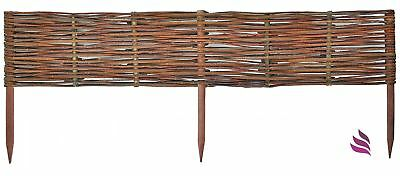 Natural Fence:1 pc (30 cm height) Natural woven hurdle, Willow - impregnated