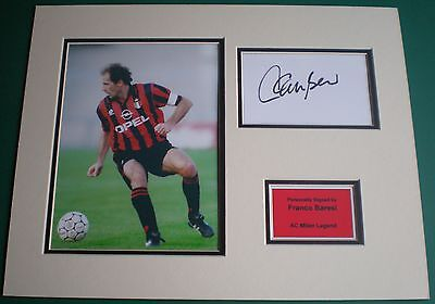 Genuine Franco Baresi Hand Signed Autograph AC Milan Photo Mount Italy