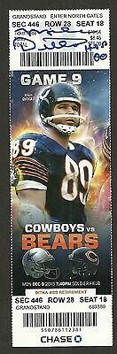 Mike Ditka Ip Auto Signed Jersey Number Retirement Night Ticket 12/9/13 Bears 89