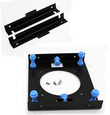 """3.5"""" SSD HDD Hard Disk to 5.25"""" Drive Bay Adapter Shock Absorption Rack Bracket#"""