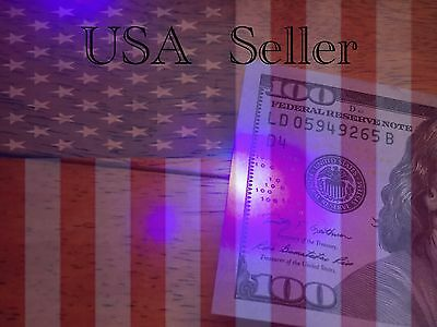 Six UV Black Light LED Money Detectors Keychain USA Seller Fast Free Shipping