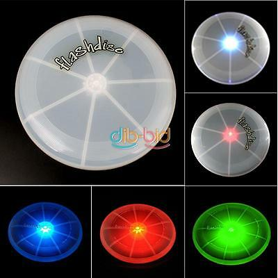 LED Light Up Flying Disk Multi Color Frisbee Outdoor Sports Toys Camping Utility