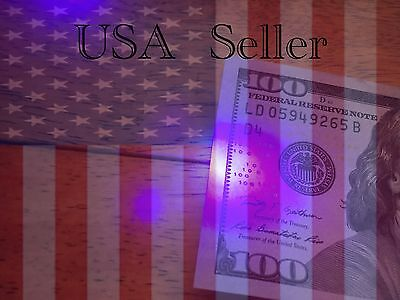 2x UV Black Light LED Counterfeit Money Currency Key-chain USA Seller Free Ship
