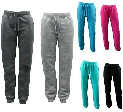 NEW Women's Ladies Soft Fleece Track Pants with Elasticised Cuff Trackies