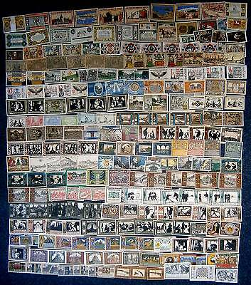 [#14466] - 250 Different! Beautiful Collection Notgeld 250 Different Notgeld Ger