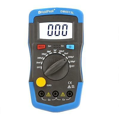 DM6013L Digital Capacitor Tester Capacitance Meter With LCD Backlight Date Hold
