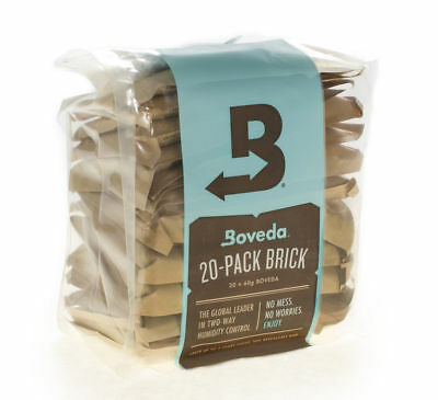 Boveda 62% 2-Way Humidity Control, Large 20-Pack Bulk Brick