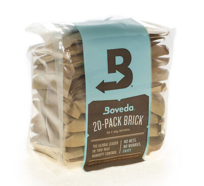 Boveda 75% 2-Way Humidity Control, Large 20-Pack Bulk Brick