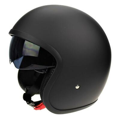 Viper RS-v06 Matt Black Motorcycle Bike Open Face Crash Helmet Scooter New