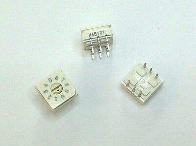 94HAB10T Grayhill (5 pcs) BCD 10 Position Rotary Switch DIP 6 Pin Thru Hole