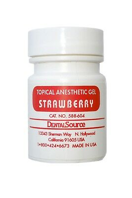 Dental Topical Anesthetic Gel 30 gm Strawberry