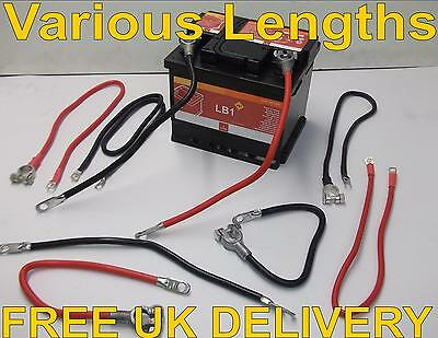 Positive Earth Battery Cable Starter Solenoid Boat Van Marine Black / Red Auto