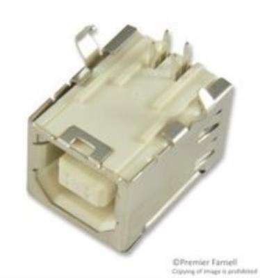 4X Mill Max 84K7068 Usb Type B Connector Receptacle 4 Position Through Hole