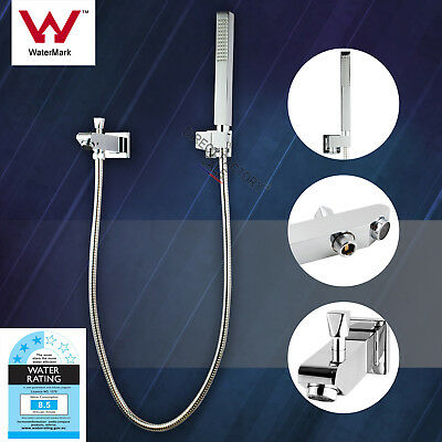 Square Round  Watermark Basin Mixer Tap White chrome brass handle vanity Faucet