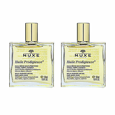 SET OF 2 NUXE Huile Prodigieuse Multi-Usage Dry Oil Face Body 50ml x2 #1395_2
