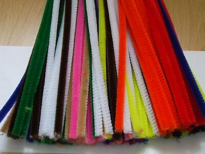Pipe Cleaners / Chenille Stems - Black, White, Tinsel, Multicoloured Craft Stems
