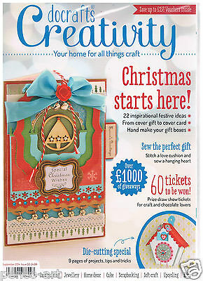 Docrafts creativity magazine 50 September 2014 + FREE 4 wooden decor & ornaments