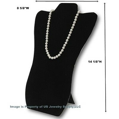 """6 Black Necklace Pendant Easel Back Portable Jewelry Display 8 5/8""""W x 14 1/8""""H"""