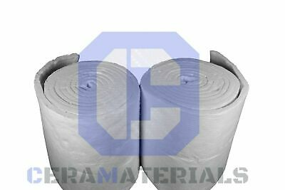 Ceramic Fiber Blanket Insulation 1 inch x 24 inch x 25' Roll  2300F 8 LB