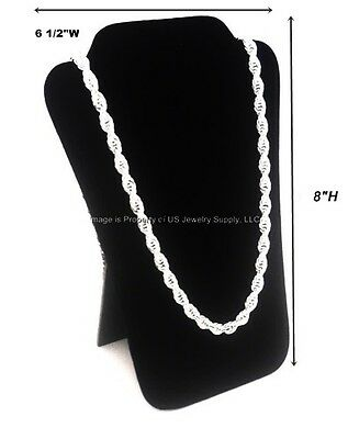 "6 Black Velvet Necklace Pendant Easel Back Jewelry Displays 6 1/2""W x 8""H"