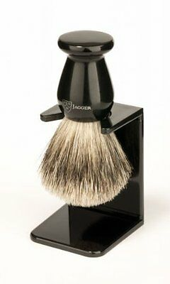 New Edwin Jagger Best Badger Shaving Brush W/ Drip Stand - Small Imit *FROM UK*