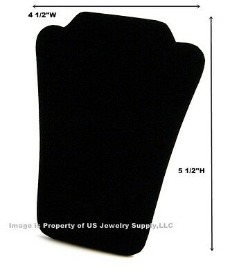 "6 Small Black Velvet Necklace Pendant Easel Back Displays 4 1/2""W x 5 1/2""H"