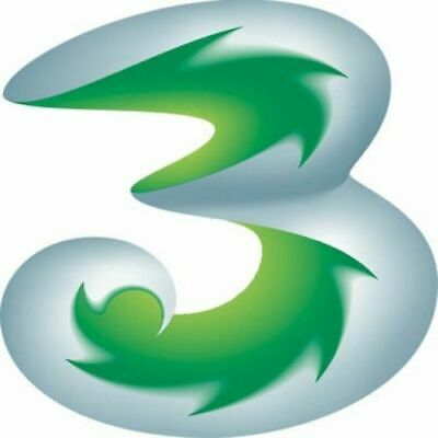 Official Three Network Pay As You Go 3G Trio Sim Card With 321 Plan