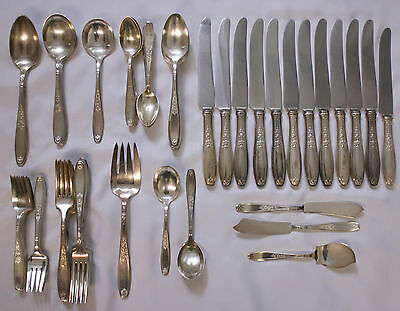 Lot 68pc Vintage Ambassador 1847 Roger Bros Silverplate Flatware Serving Pieces