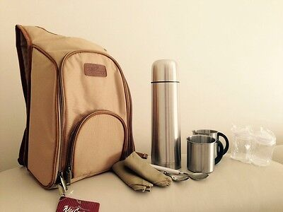Picnic Coffee Backpack Set Top Quality 10 Pieces Outdoor Camping Bag Picnicware