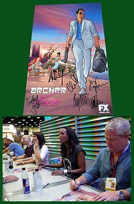 ARCHER VICE sdcc 2014 Cast Signed FX Poster AISHA TYLER CHRIS PARNELL ADAM REED